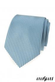 Türkis Krawatte mit blauem Muster