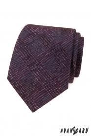Herren Krawatte mit weinrotem Muster