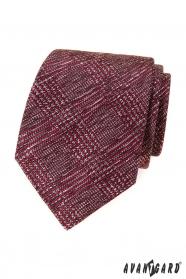 Herren Krawatte mit rot-grauem Muster