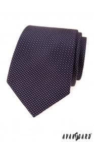 Herren Krawatte mit lila Quadraten