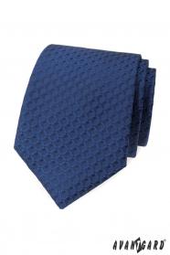 Blaue Krawatte mit 3D-Muster