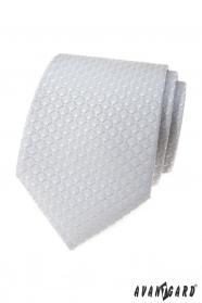 Hellgraue Krawatte mit 3D-Muster