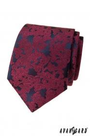 Herren Krawatte mit Burgunder-Muster