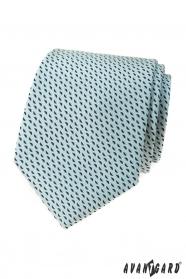 Minze Krawatte mit blauem Muster