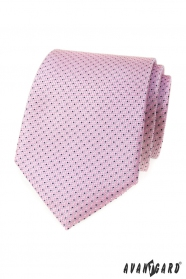 Rosa Krawatte mit blauem Muster