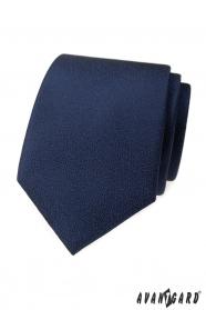 Dunkelblaue Krawatte mit strukturierter Oberfläche