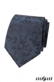 Blaue strukturierte Krawatte mit Muster