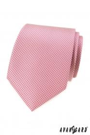Rosa Krawatte mit kleinen Punkten