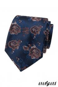 Blaue Krawatte, rote Rosen