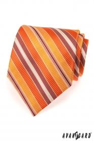 Krawatte mit orangen Streifen