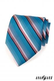 Blaue Krawatte mit Streifen in Rosa