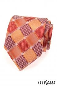 Krawatte große rote Würfel