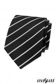 Schwarze Krawatte mit weißem Streifen
