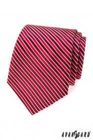 Rote Krawatte mit Bordeaux Streifen