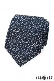 Blaue Herren Krawatte Note Motiv