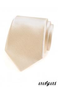 Elfenbein einfarbige Krawatte