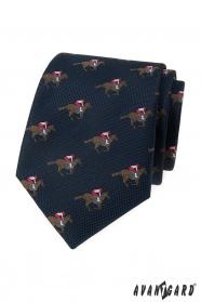 Blaue Krawatte, Rennpferdemuster