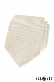 Krawatte mit gestreifter cremefarbener Struktur