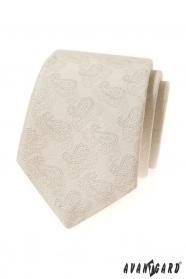 Cremige Krawatte mit Paisley-Muster