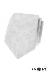 Weiße Krawatte mit Paisley-Muster