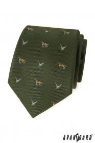Grüne Krawatte für Jäger