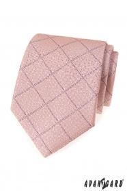 Puderrosa Krawatte mit lila Streifen