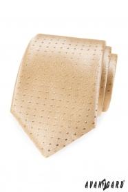 Goldene Krawatte mit Tupfen