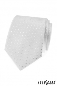 Silberne Krawatte mit Quadraten