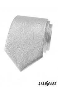 Metallisch glänzende silberne Krawatte