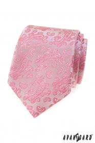 Rosa Krawatte mit Paisley-Muster