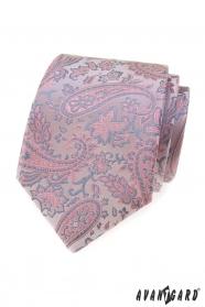 Pudergraue Paisley-Krawatte