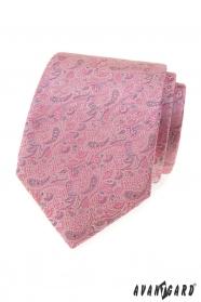 Rosa-graue Paisley Krawatte
