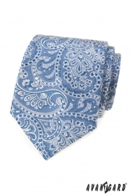 Hellblaue Krawatte mit Paisley-Motiv