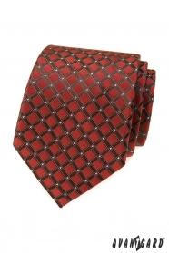 Zimtbraune Krawatte mit Streifen