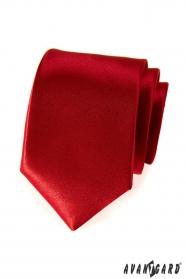 Glatte Herrenkrawatte rot