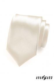 Herren hochglänzende cremige Krawatte