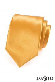 Herren LUX Krawatte in goldener Farbe