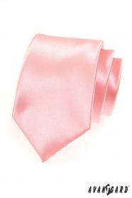 Rosafarbene glatte Herren Krawatte