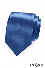 Krawatte glänzend königsblau