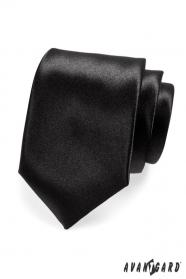 Klasische herren Krawatte schwarz glanz