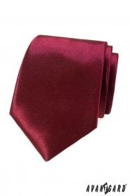 Einfarbige Herren Krawatte in Bordo