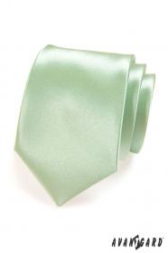 Krawatte    Hellgrün Glanz