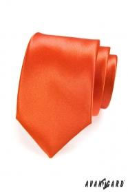 Orange einfarbige Krawatte für Männer