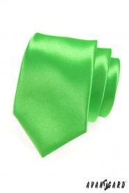 Krawatte    Grün Glanz