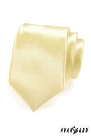 Krawatte gelb glatt