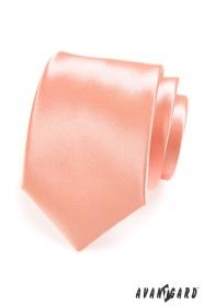 Glatte glänzende Herren Krawatte in Lachstönen