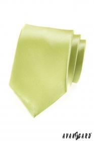 Krawatte limegrün mit Glanz