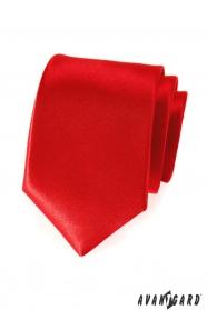 Rote glatte Krawatte für Herren