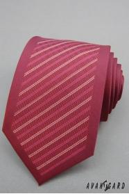 Krawatte bordeaux mit Streifen