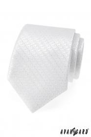 Festliche weiße Krawatte mit silberem Faden